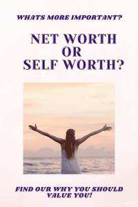 net worth vs self worth pin
