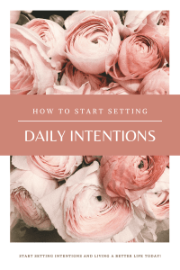 setting daily intentions