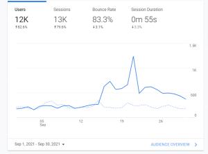 46th month blogging stats via analytics