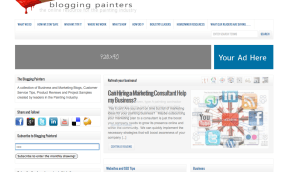 Banner ad for Blogging painters