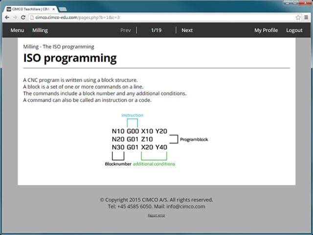 programação ISO