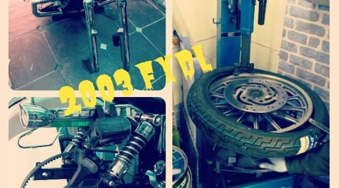 【タイヤ交換】【ブレーキパッド交換】FXDL ダイナツインカム2003