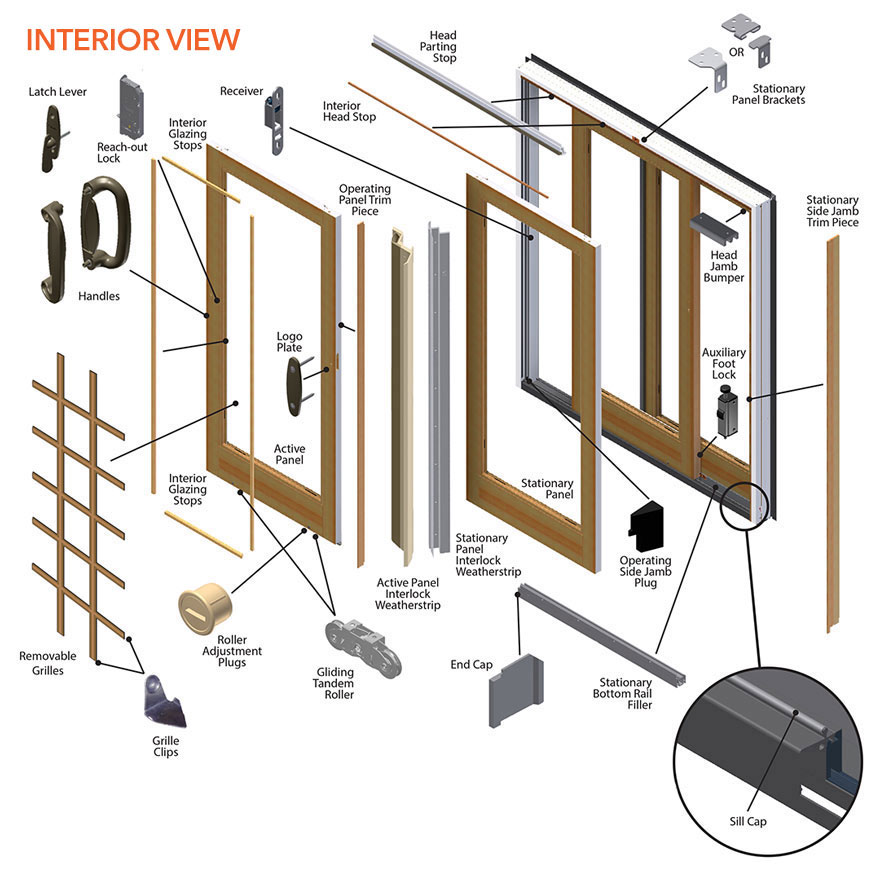 frenchwood gliding patio door parts diagram