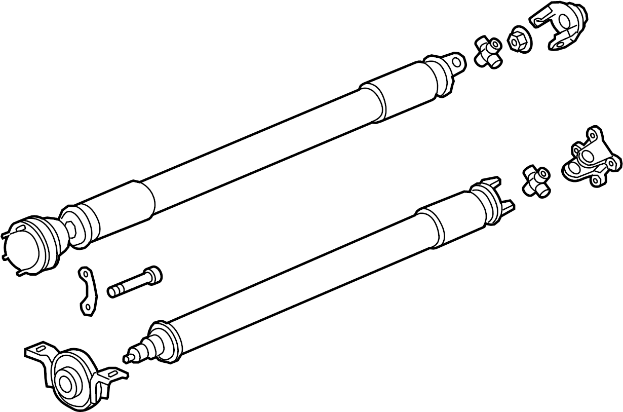 Gmc Terrain Drive Shaft Differential Axle Components