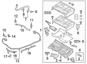 2018 Audi A3 Sportback etron Battery ASSEMBLY mount bolt Drive Motor Battery Pack Bolt SCREW