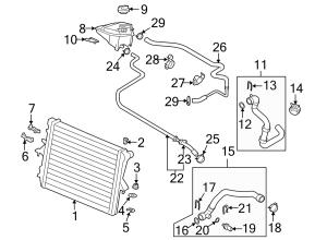 2015 Audi Cover Engine coolant reservoir cap Radiator cap A cover that prevents  1J0121321B