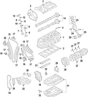 06K103171G  Engine Crankshaft Seal FLANGE REAR MAIN