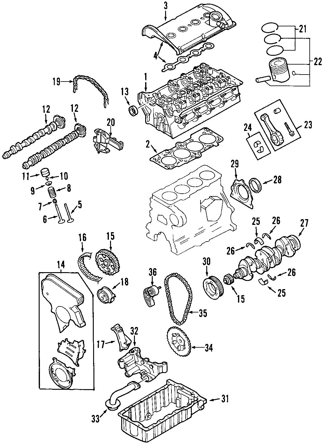 Audi Tt Engine Timing Chain Tensioner Oil Pump A4