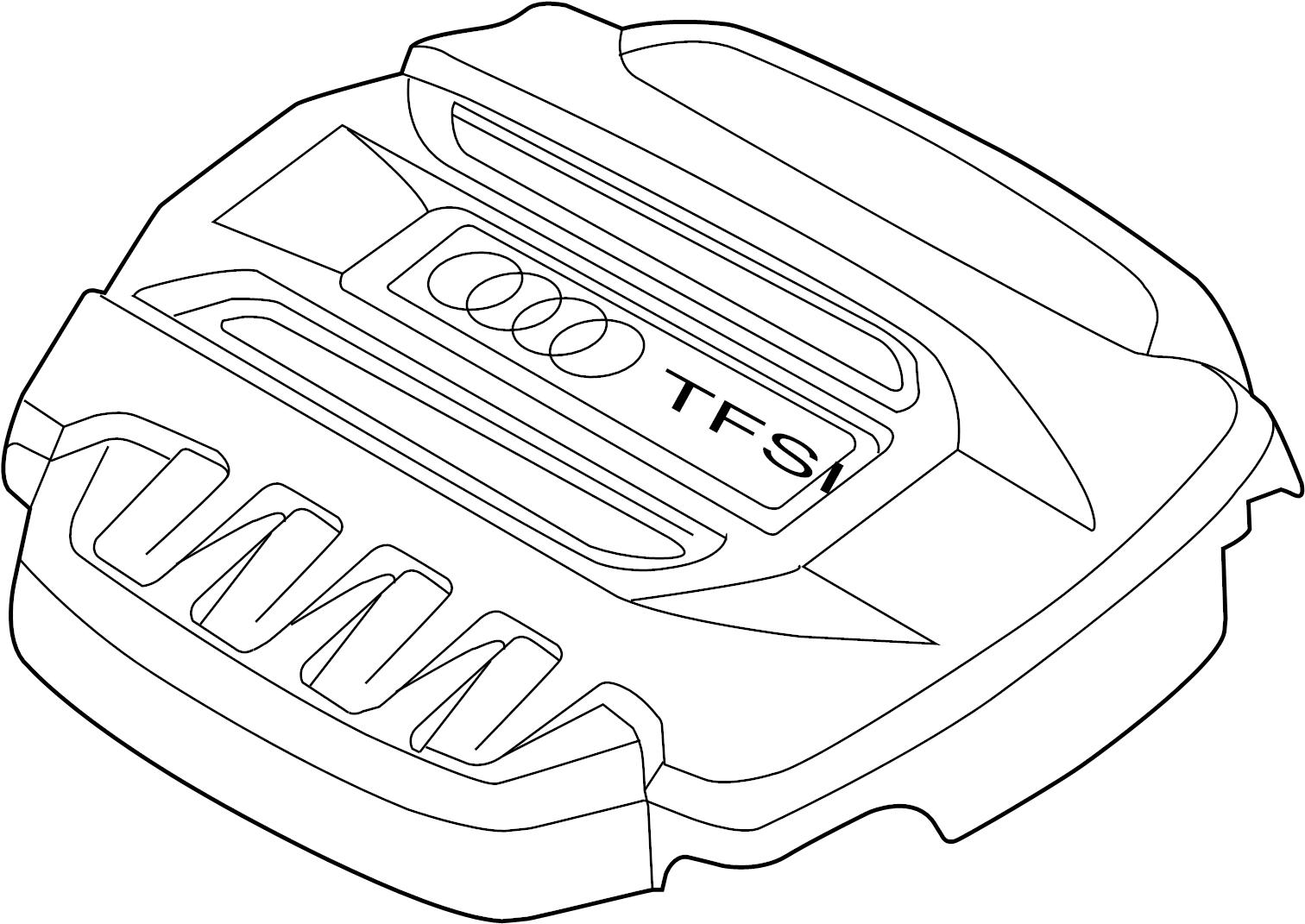 Audi Tt Engine Cover Liter Convertible Transaxle