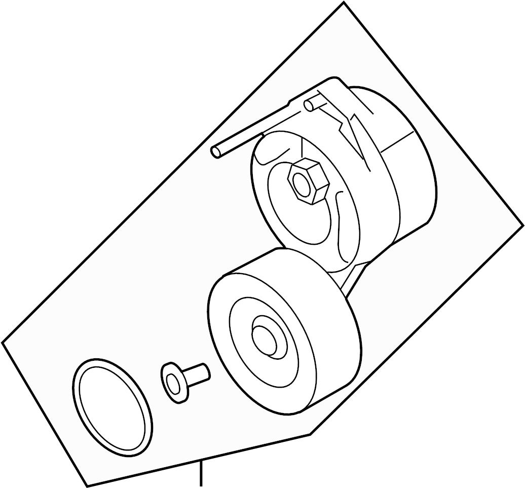 Audi Belt Tensioner Beltdamper Serpentine Tensioner