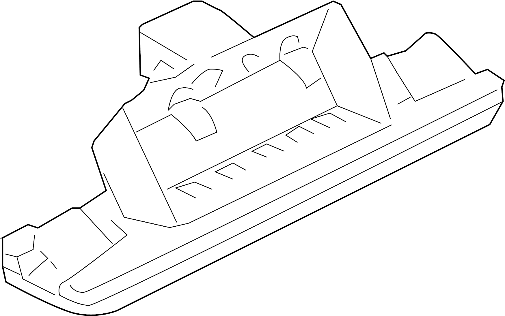 Audi A4 License Plate Light Assembly Sedan Wagon