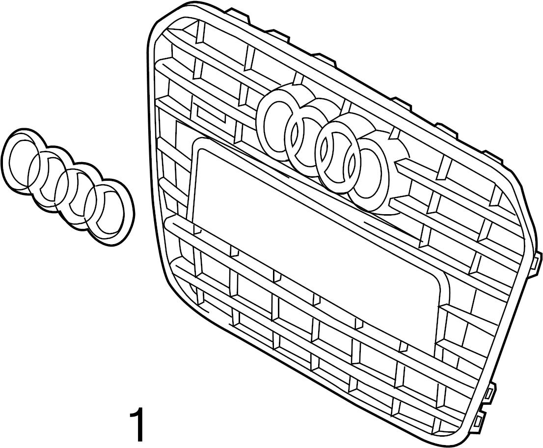 Audi A6 Emblem Nameplate Grille Front Line