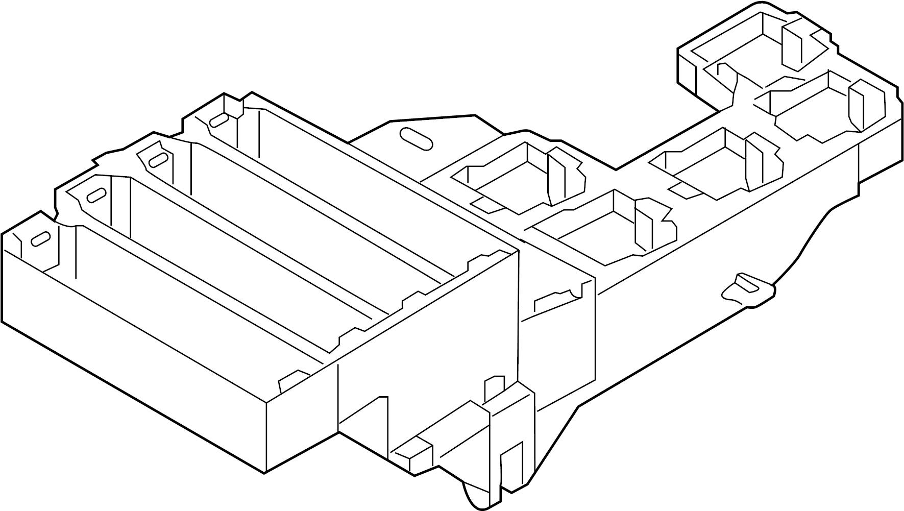 Audi S7 Fuse Relay Mount Box Rear