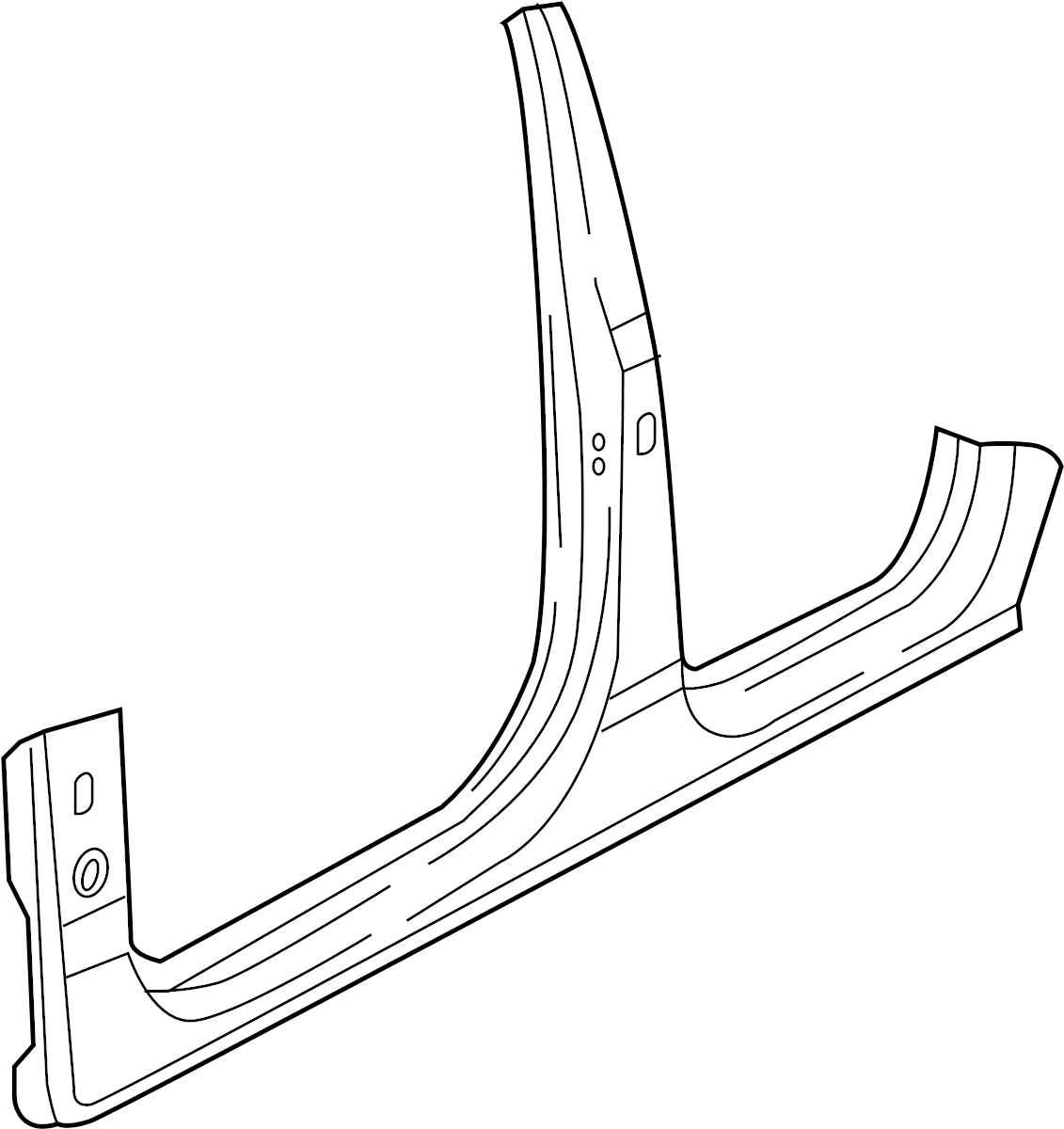Audi Q7 Body B Pillar And Rocker Panel Lower