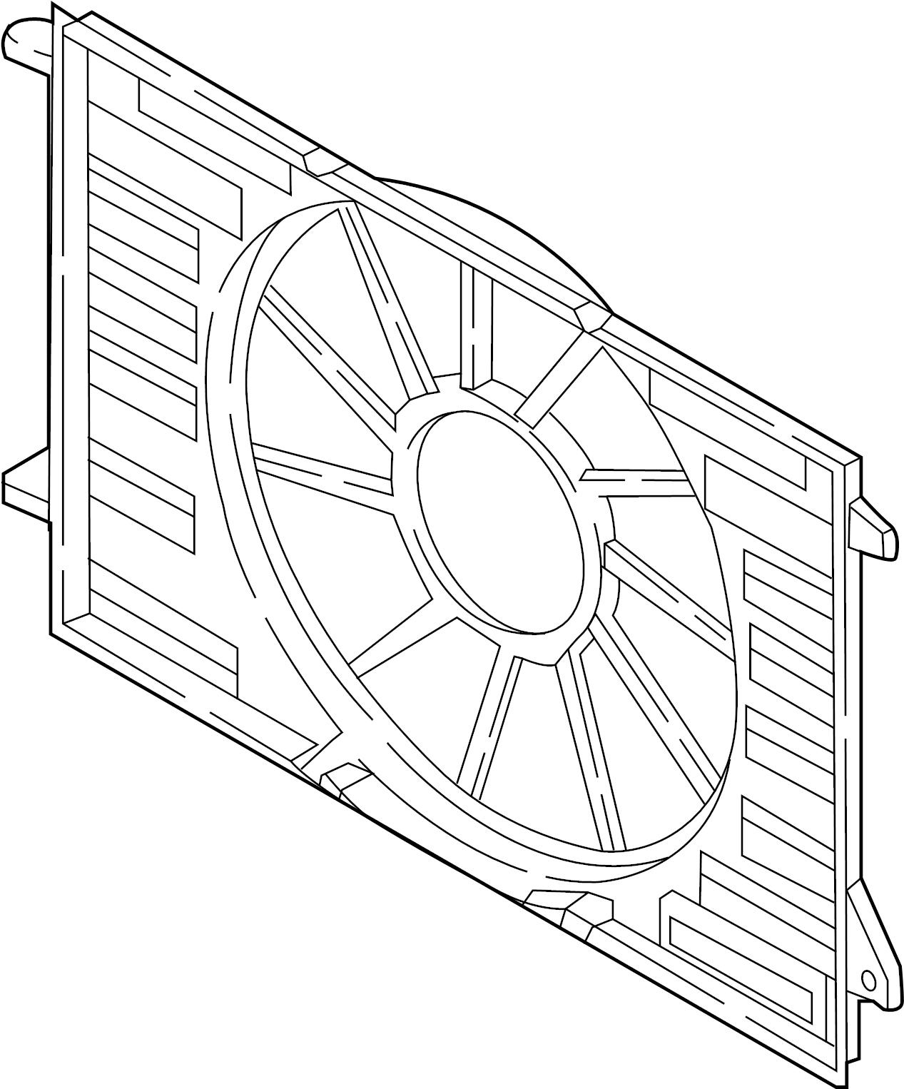 Audi A4 Engine Cooling Fan Shroud Liter Towing Pkg
