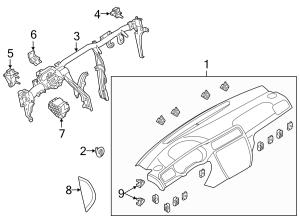 2014 Volkswagen Jetta Cover End Cap Instrument Panel