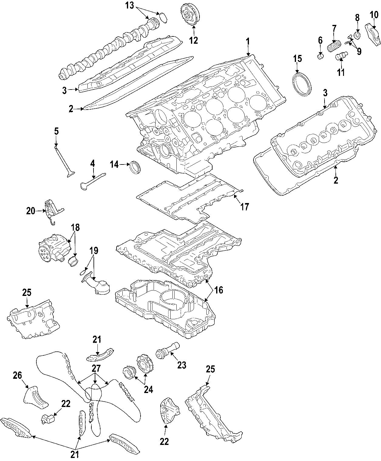 Volkswagen Phaeton Engine Timing Chain Upper Long