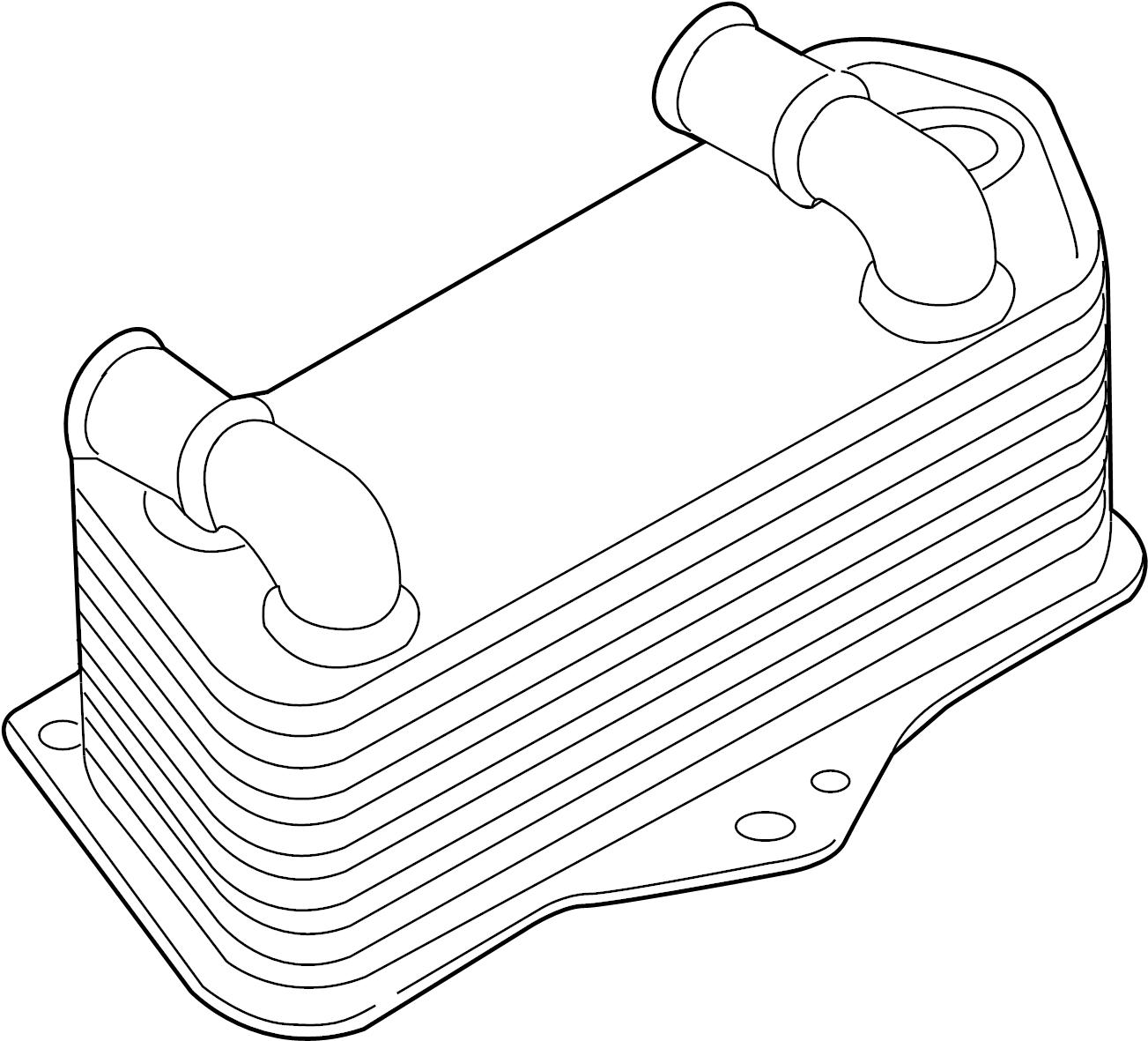 Volkswagen Rabbit Oil Cooler Trans Cooler Audi