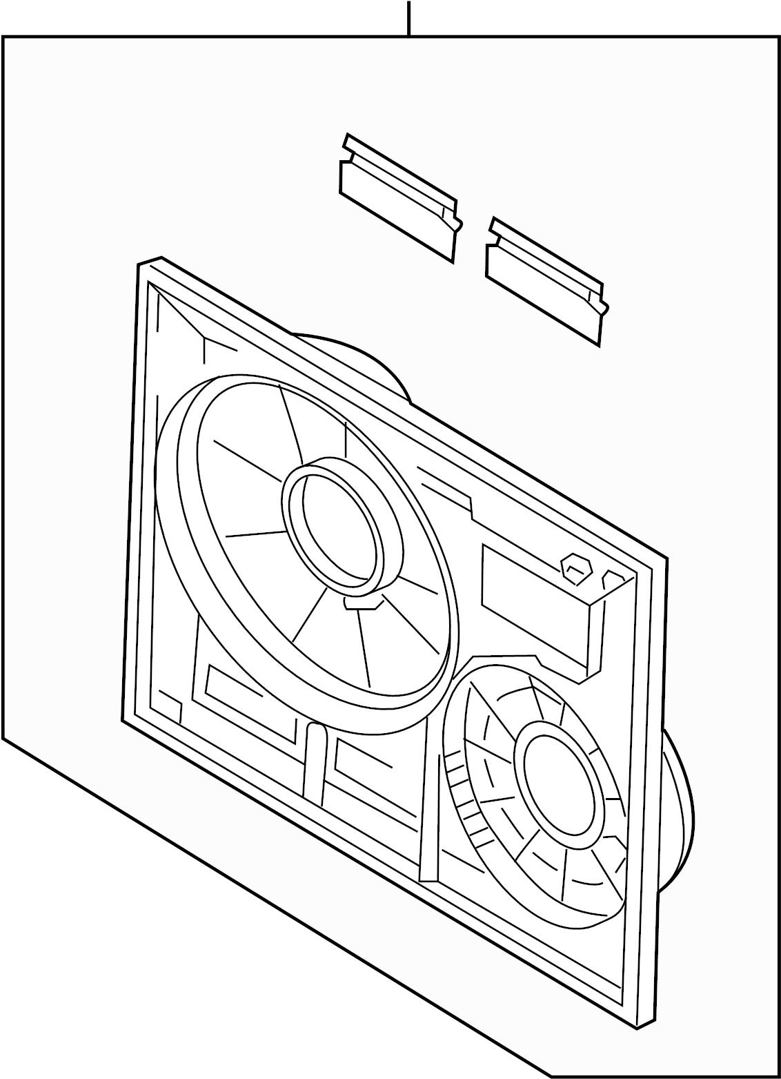 Volkswagen Touareg Engine Cooling Fan Shroud