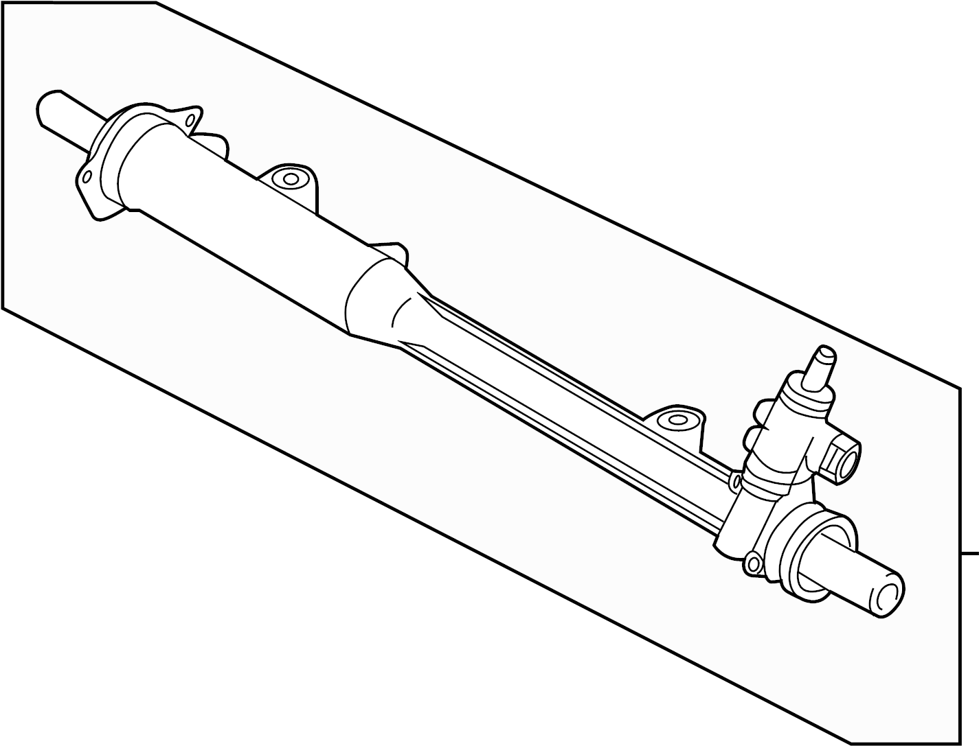 Volkswagen Touareg Gear Assy Rack And Pinion Assembly Steering Gear
