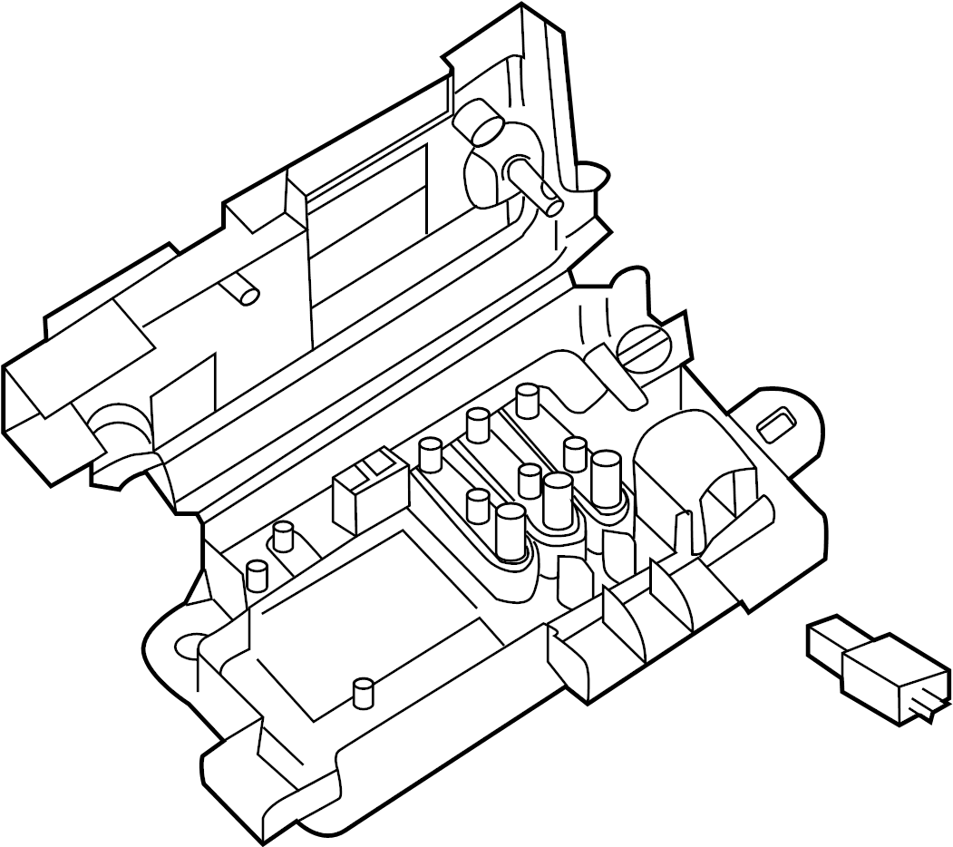 Volkswagen Passat Fuse And Relay Center Compartment