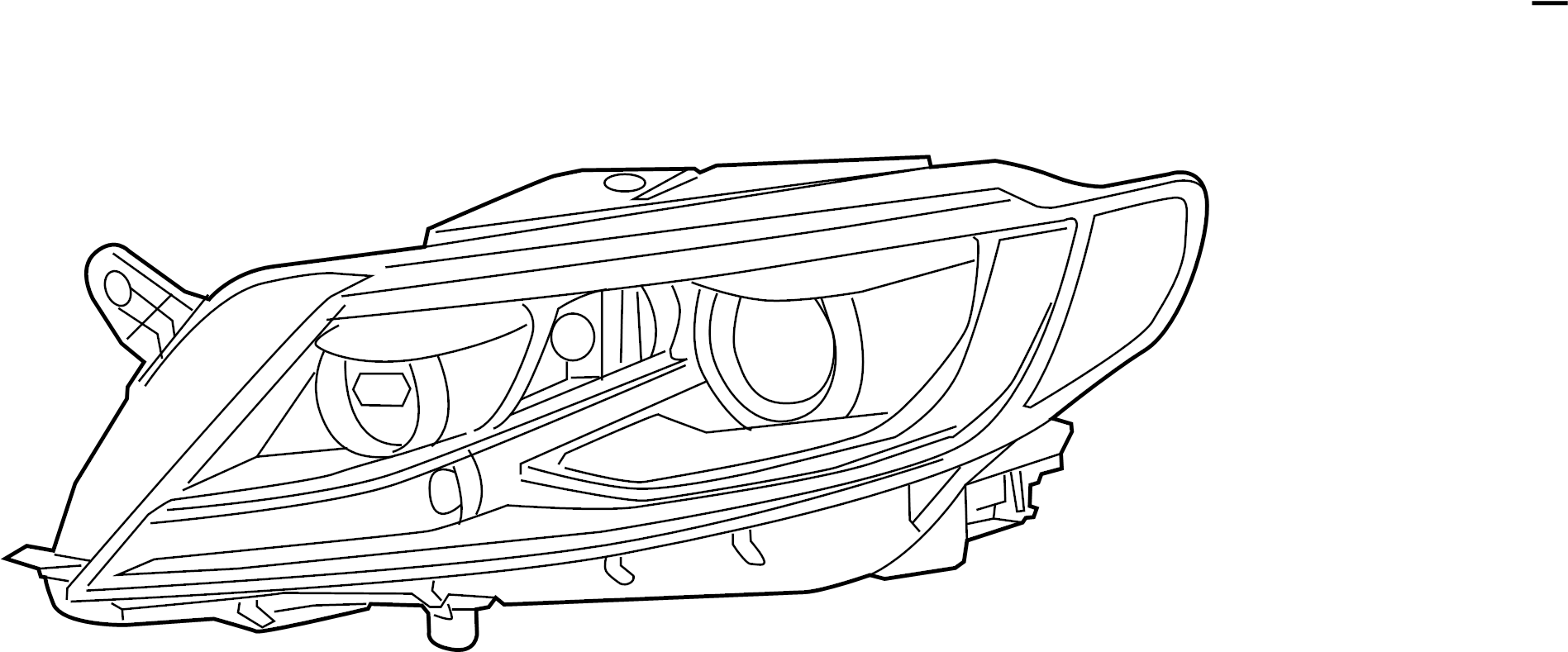 Volkswagen Cc Composite Assembly Headlamp Assembly