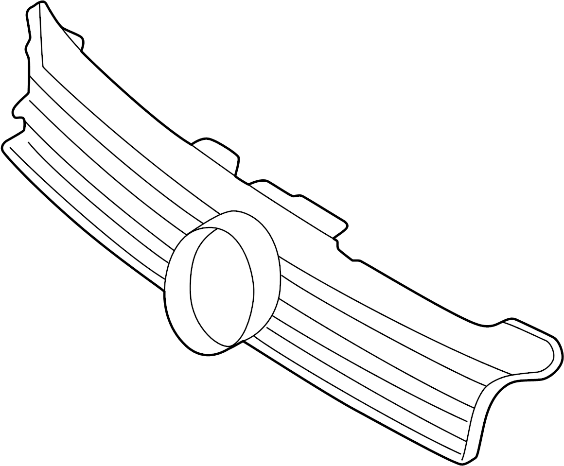 Volkswagen Jetta Gli Frame Trim Part Included With Grille Assembly