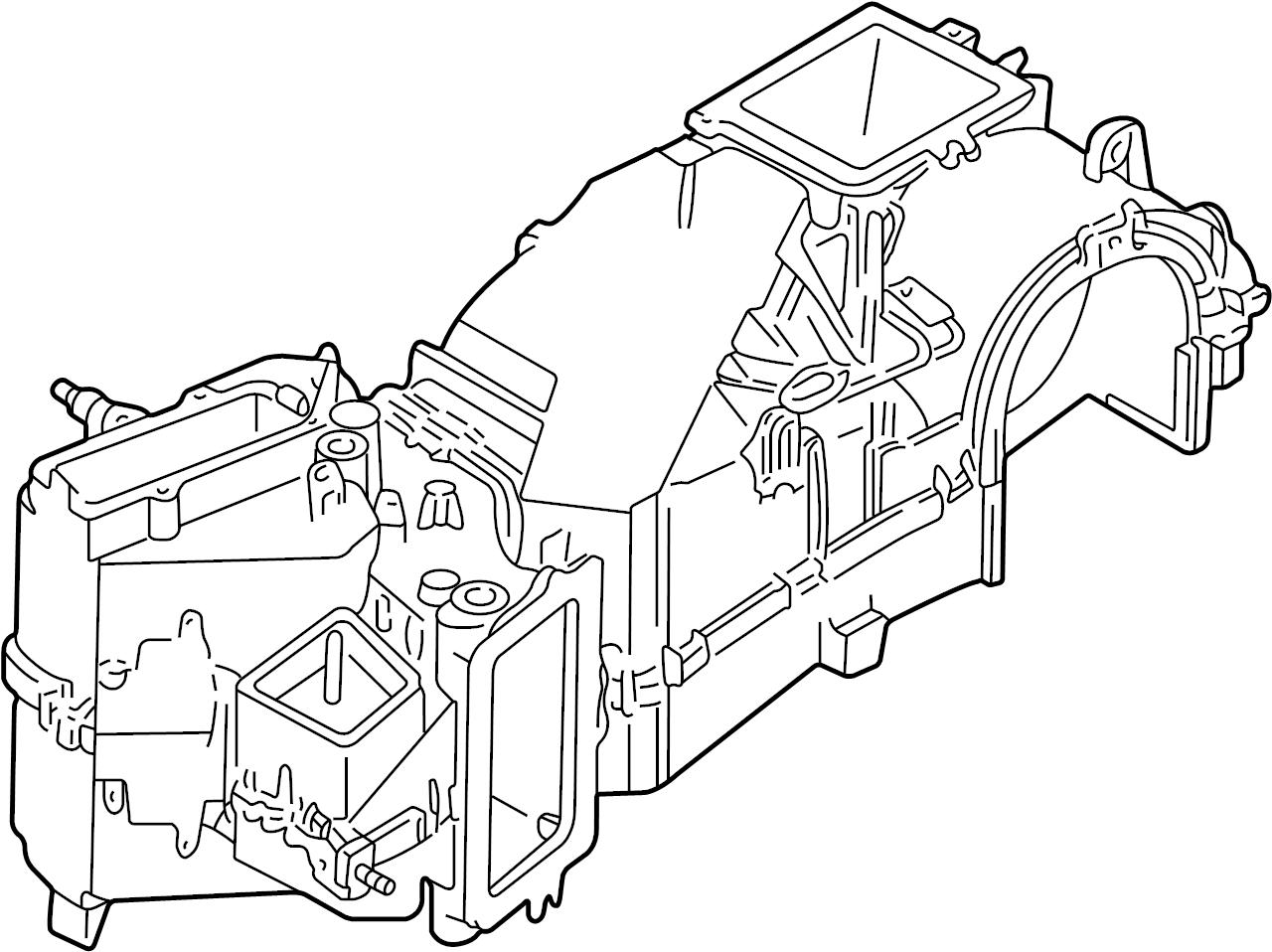 Volkswagen Cabrio Evaporator Evaporator Core Includes Housing Assy