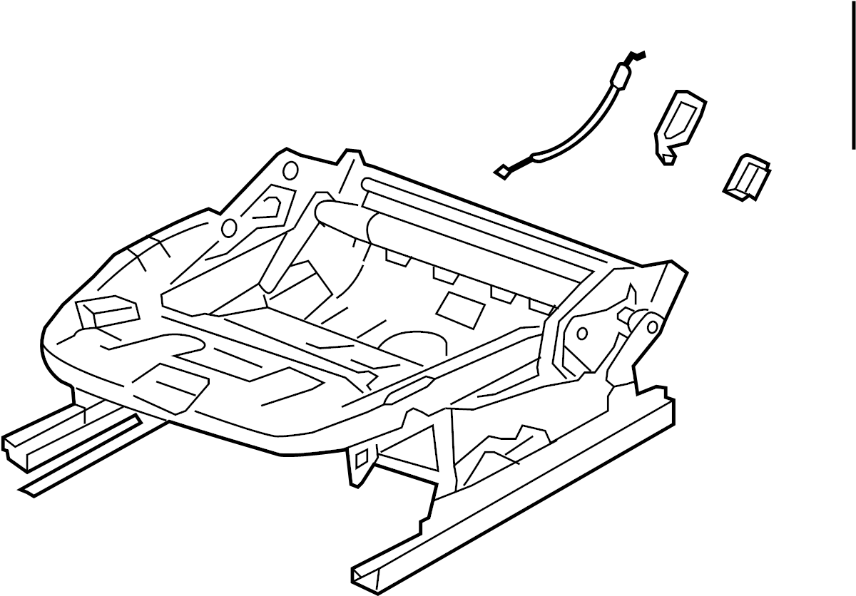 Volkswagen Rabbit Seat Frame Lower Components