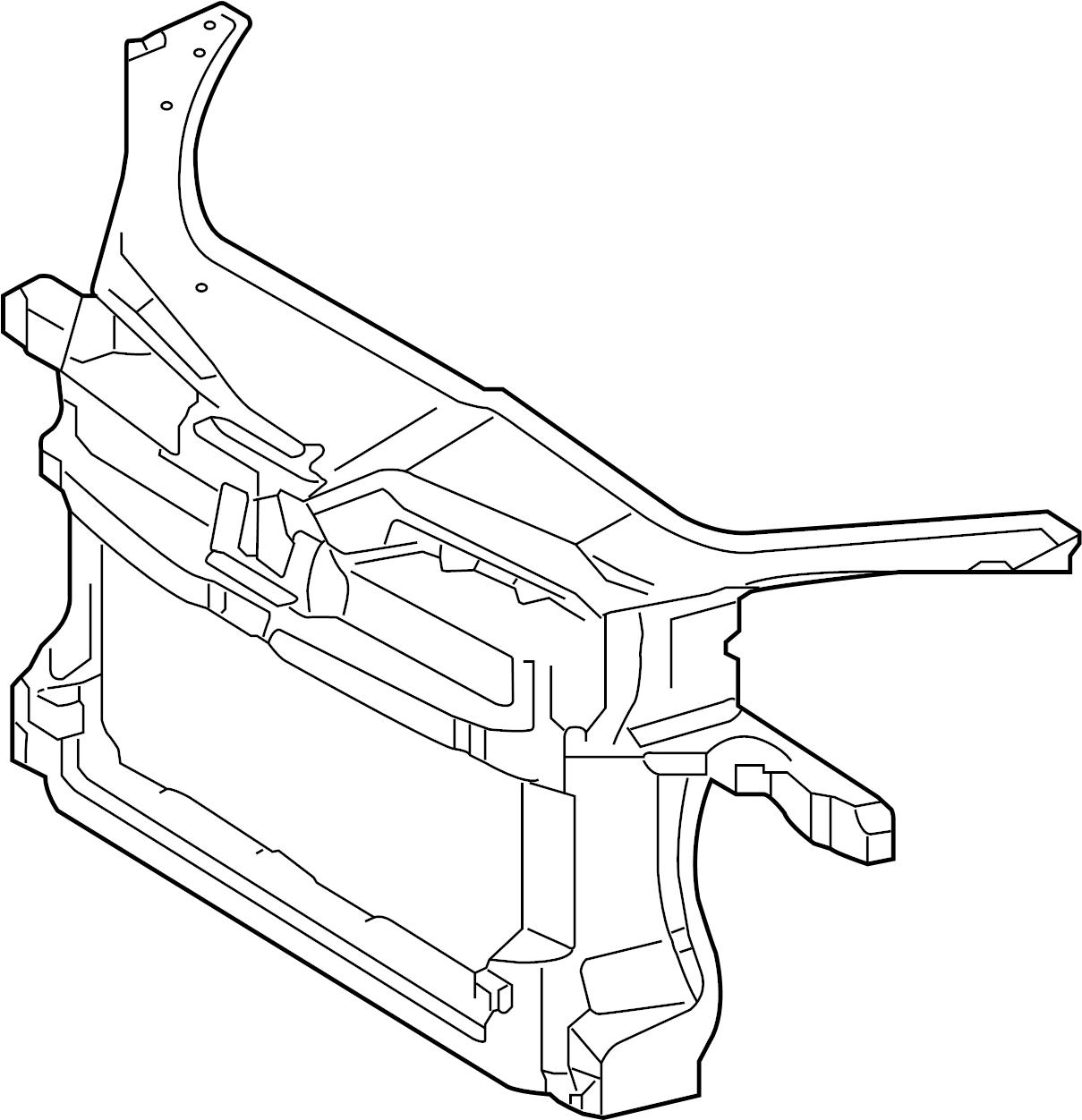 Volkswagen Rabbit Carrier Radiator Support 2 5