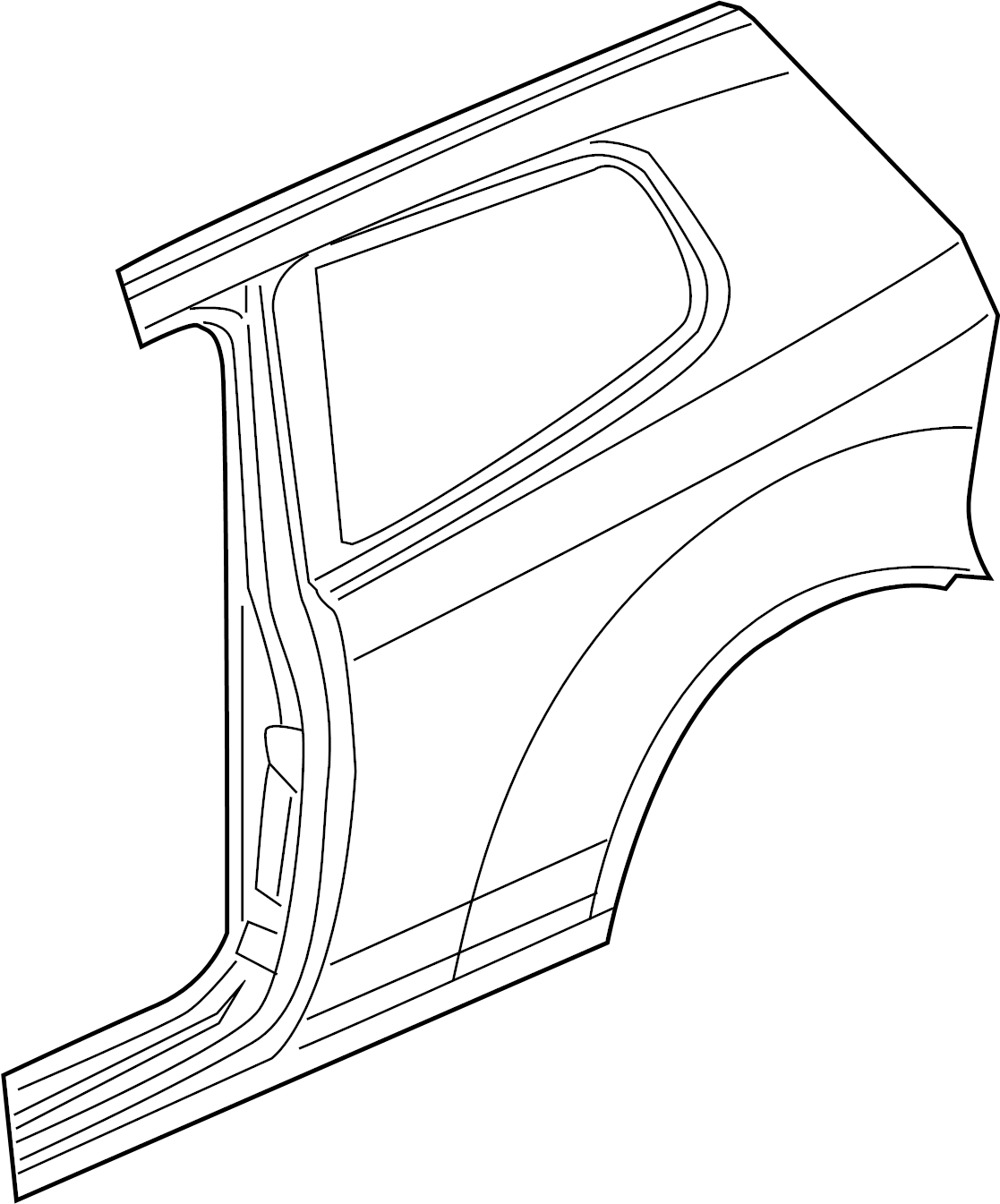 Volkswagen Golf R Panel Quarter Outer Section