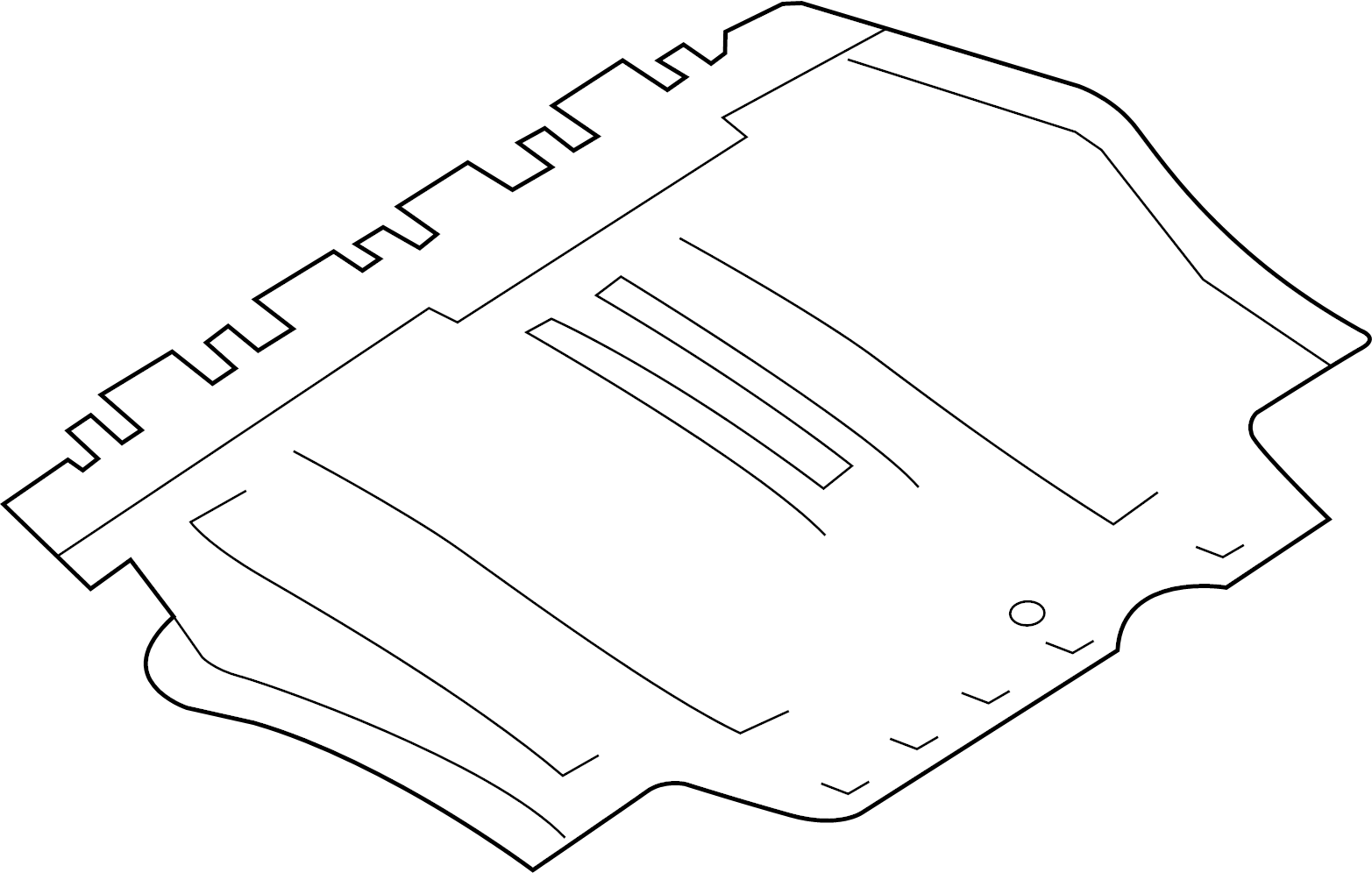 Volkswagen Jetta Hybrid Baffle Splash Shield Coupe
