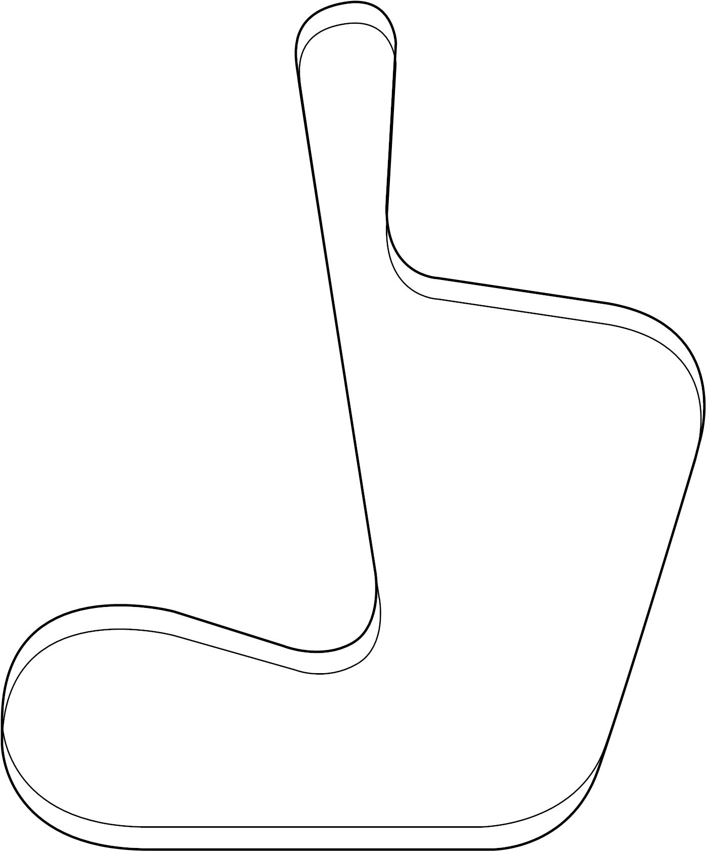 Volkswagen Routan Ribbedbelt Serpentine Belt 4 0 Liter Routan 4 0l