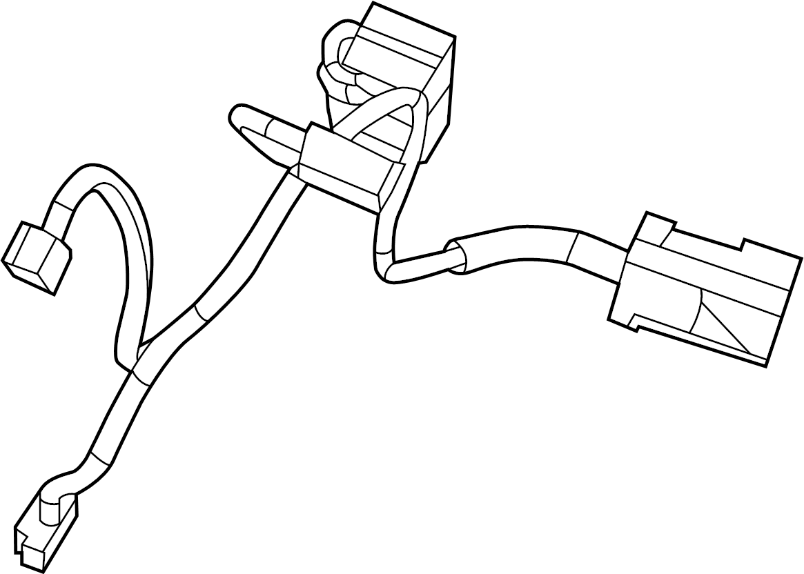 Volkswagen Routan Hvac System Wiring Harness Front