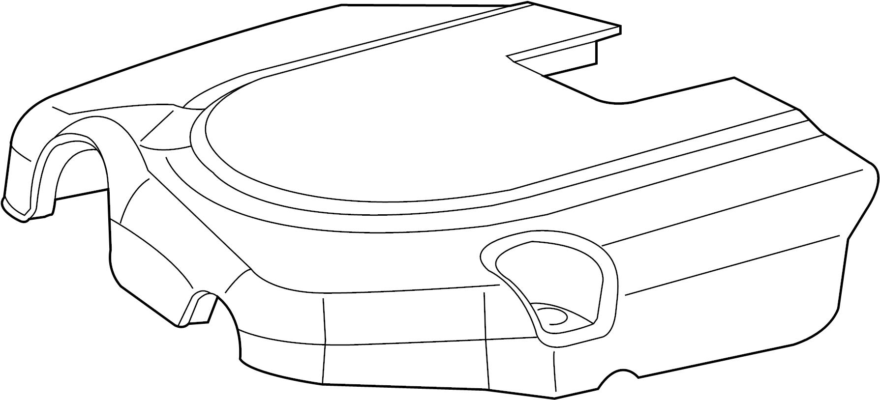 Volkswagen Routan Cover Engine Cover 3 6 Liter