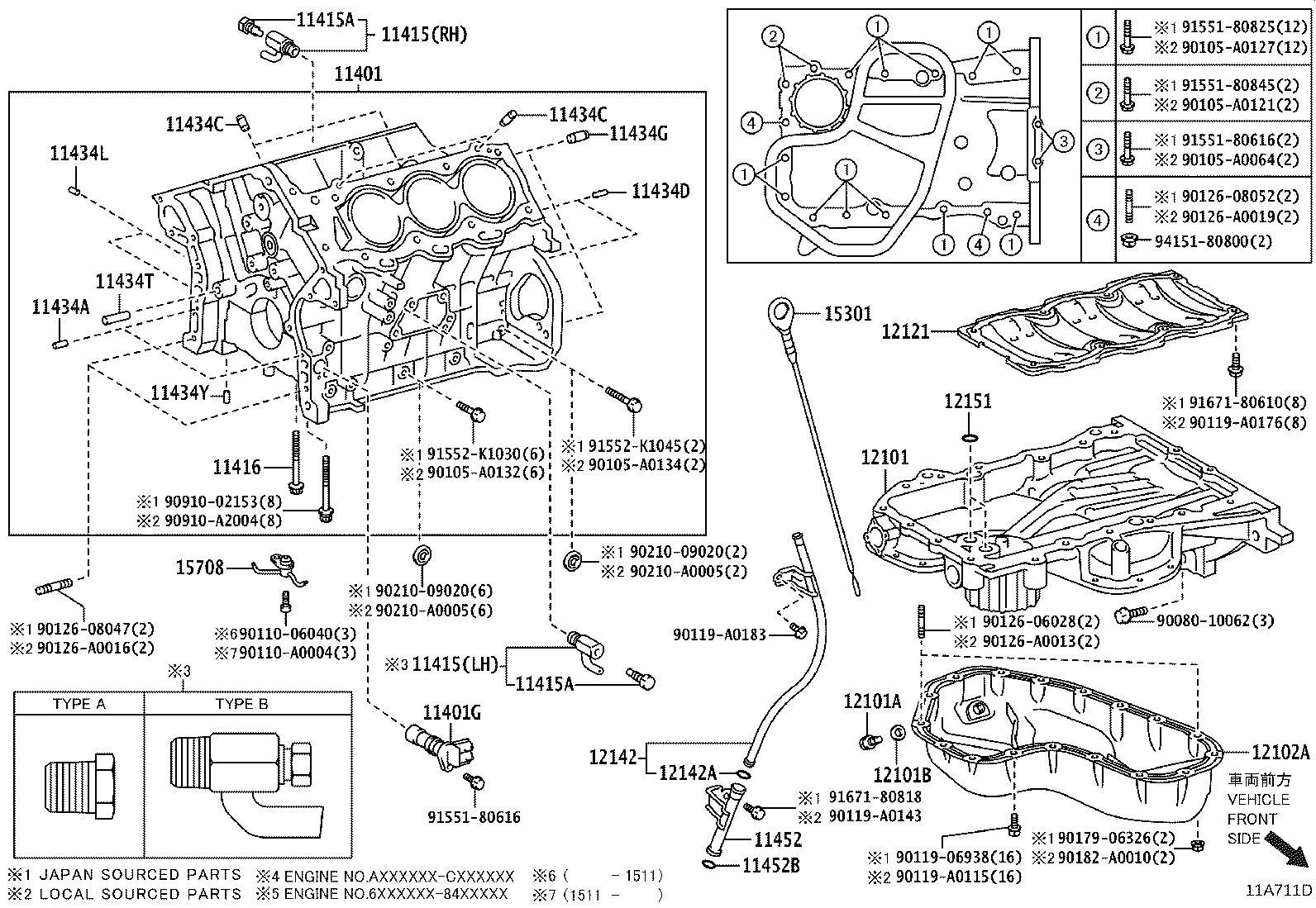 Lexus Es 350 Pin Ring For Timing Belt Idler Bracket Set