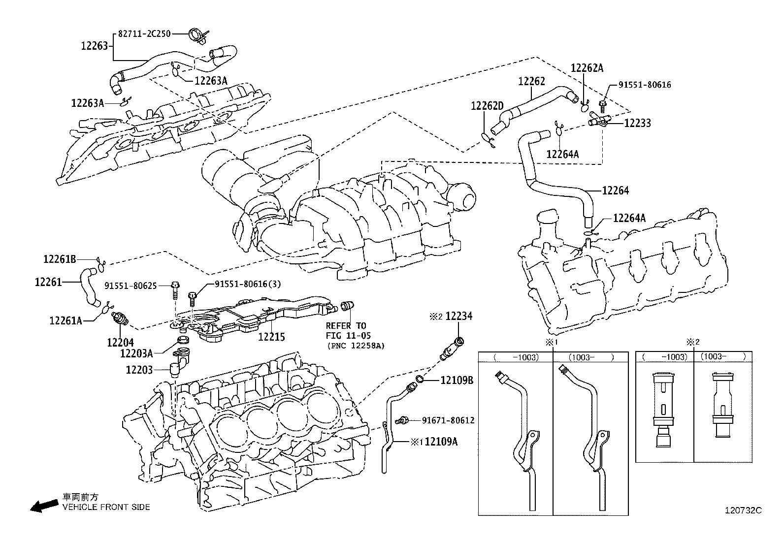 Lexus Gx 460 Hose Ventilation No 4 Engine