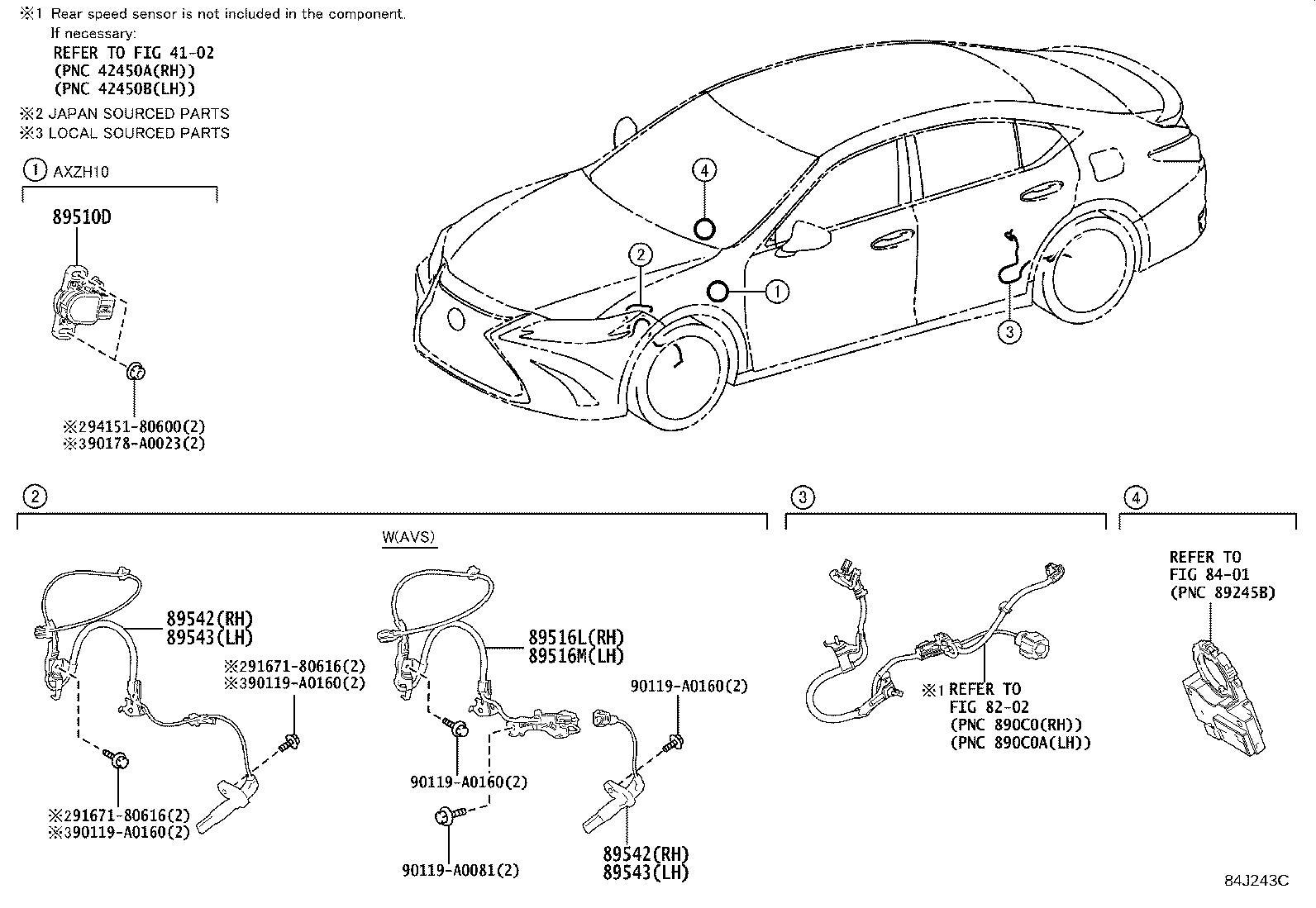 Lexus Es 350 Sensor Speed Front Left Electrical Wheel