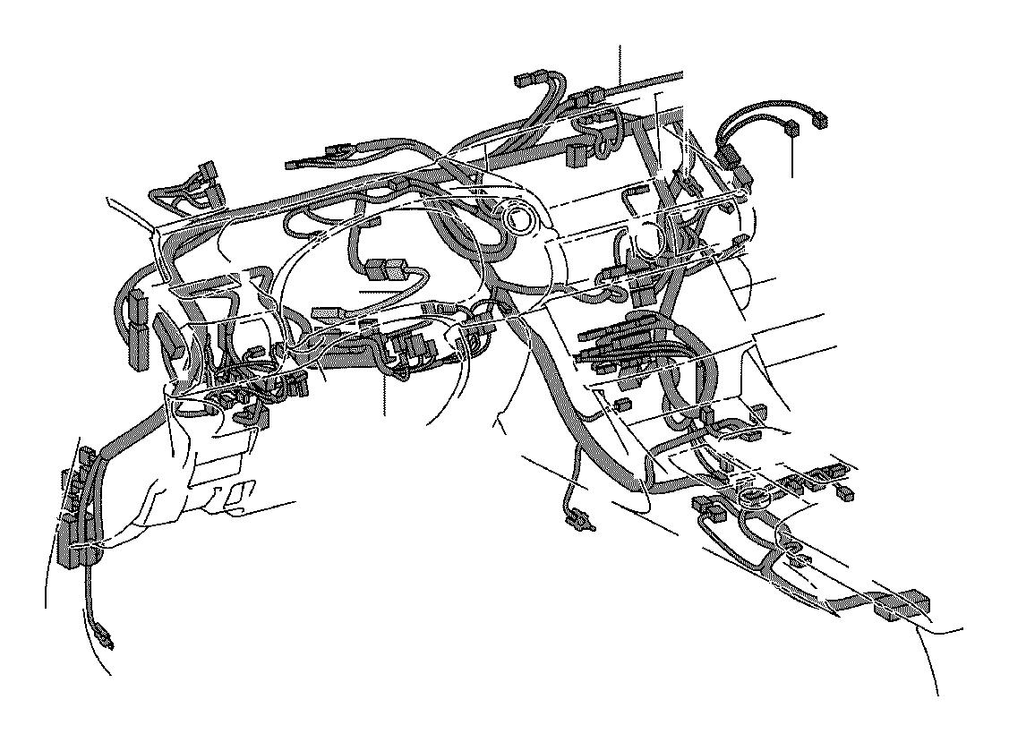 Lexus Is 350 Wire Instrument Panel No 3 Engine Clamp
