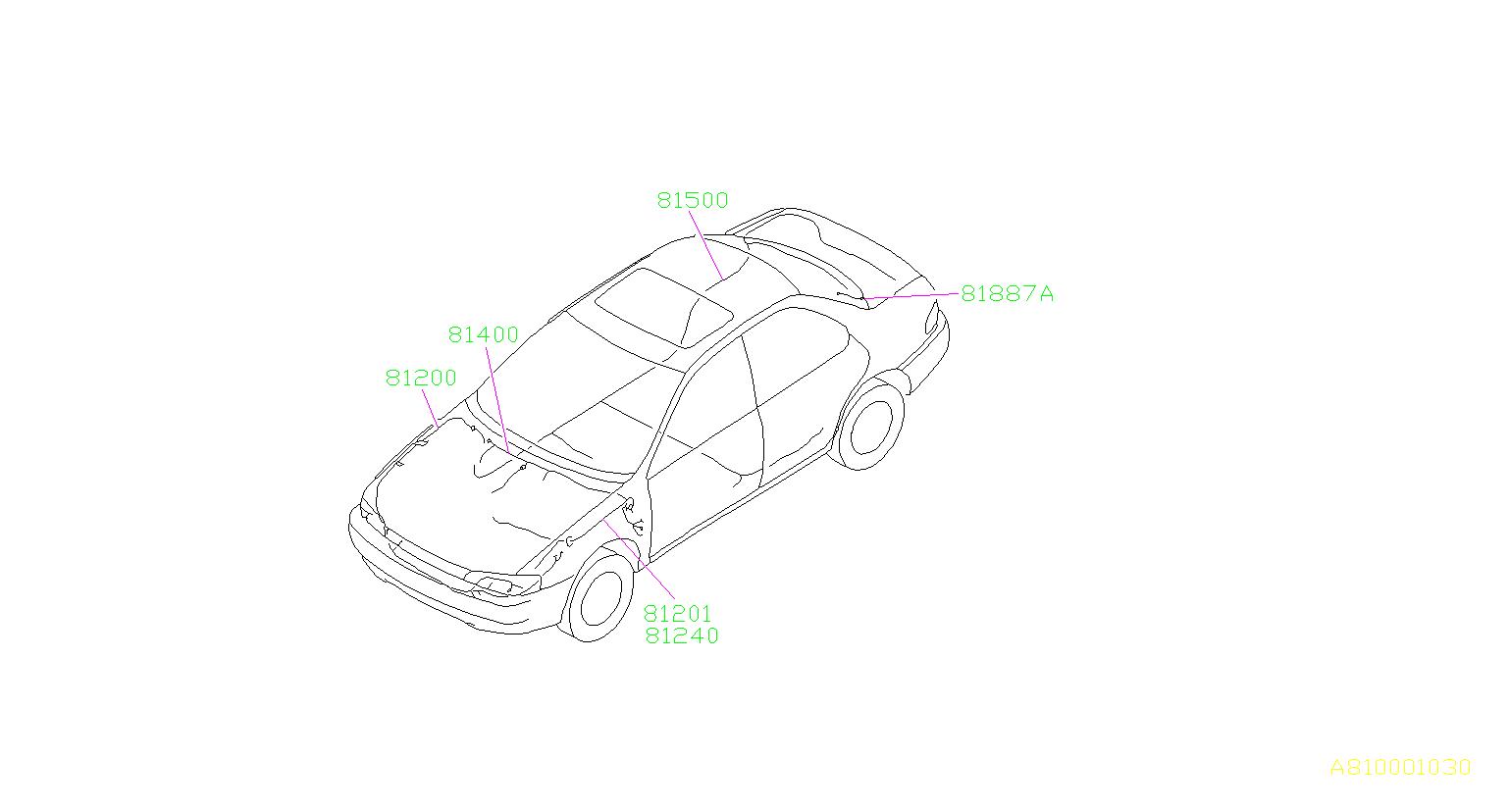 Subaru Impreza Defroster Earth Cord Rear Abs Co