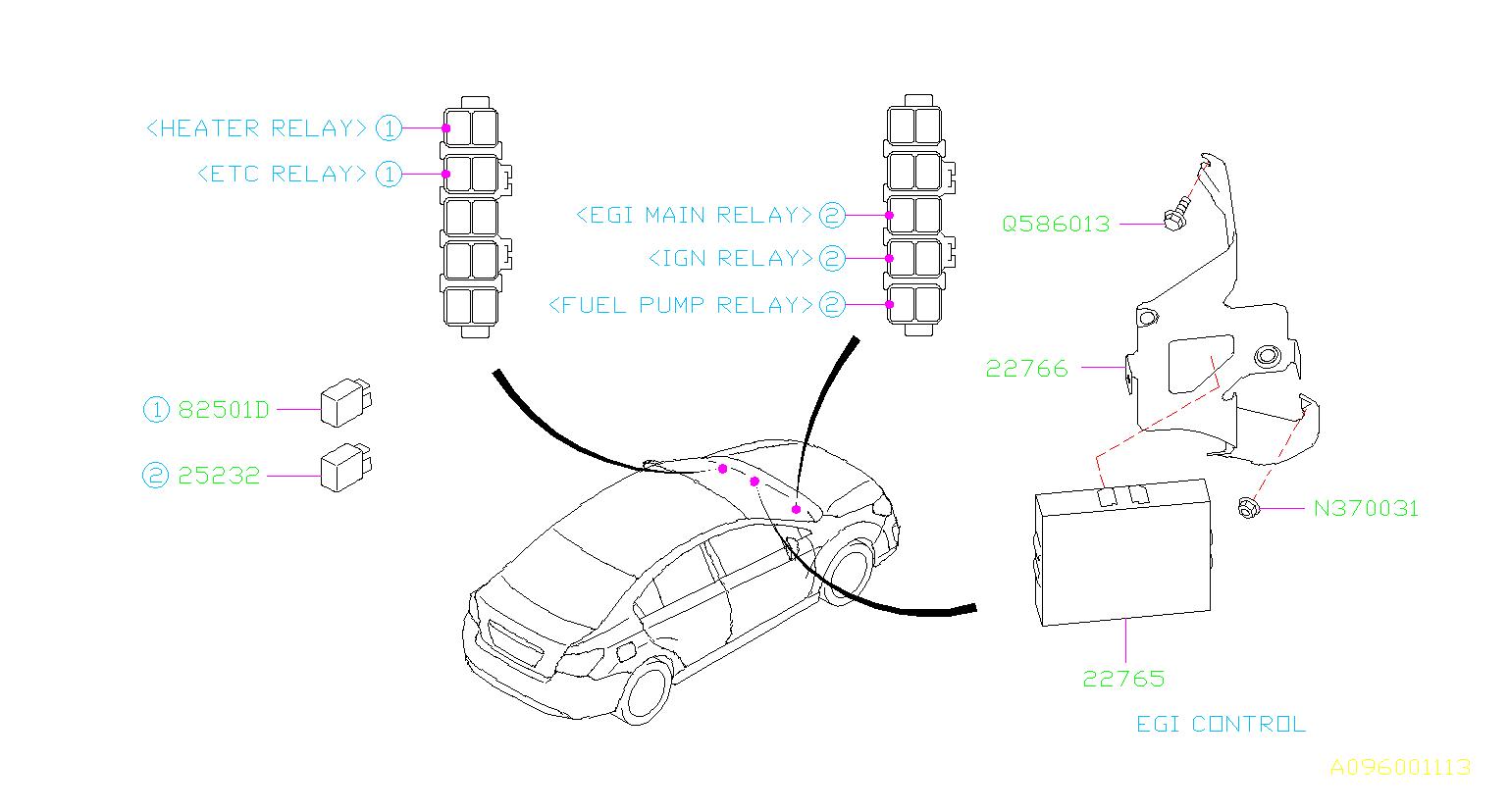 Subaru Impreza Engine Control Module