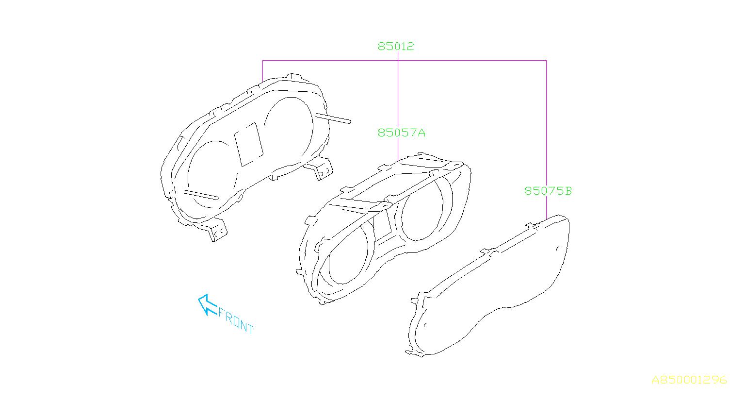 Subaru Impreza Meter Combination Cluster
