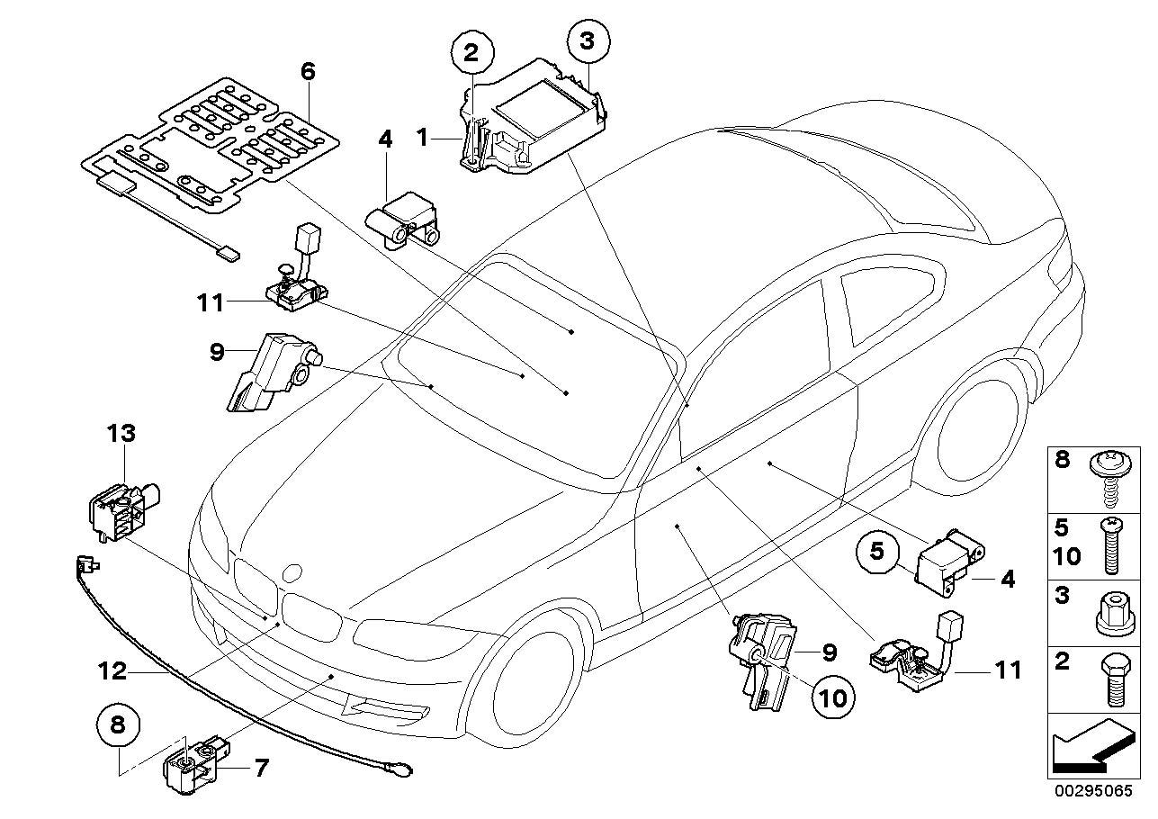 Bmw X1 28i Accelerating Sensor Electric Airbag