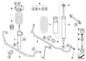BMW X1 Guide support Suspension  31306775098 | BMW