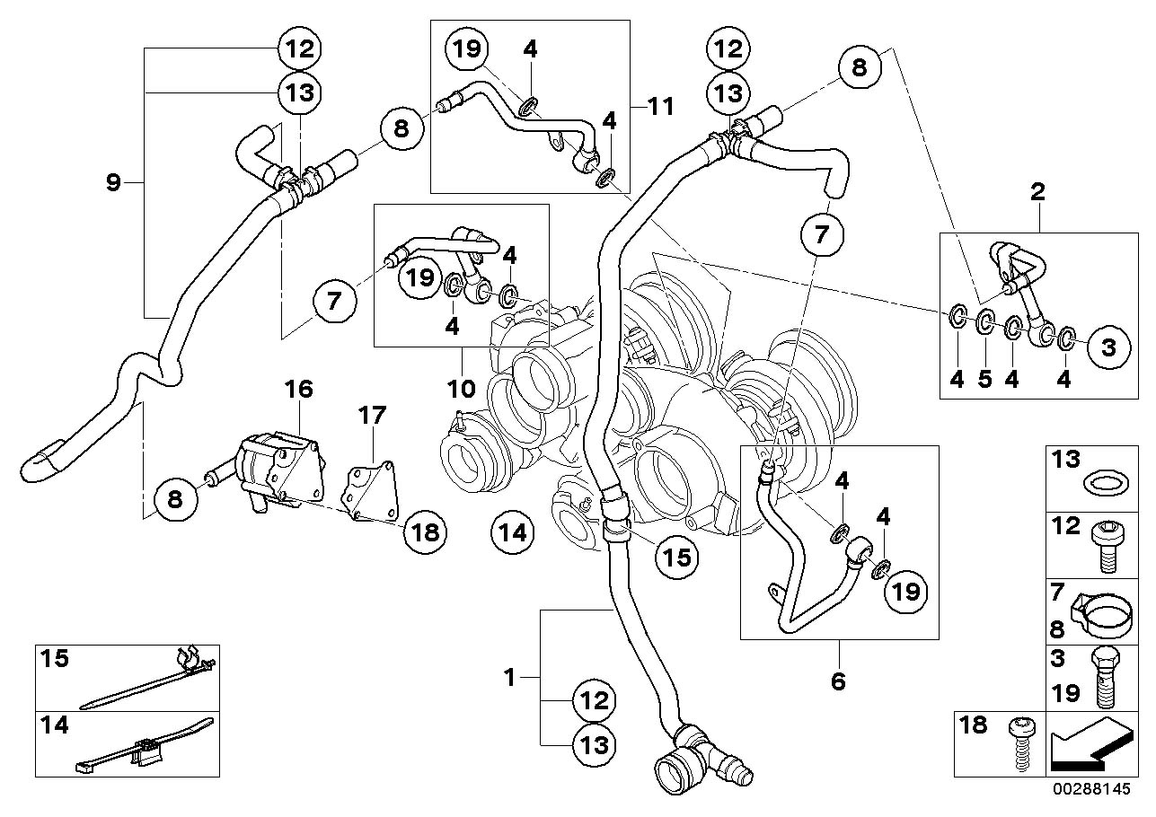 Bmw X6 Oval Head Screw Cooling Water System