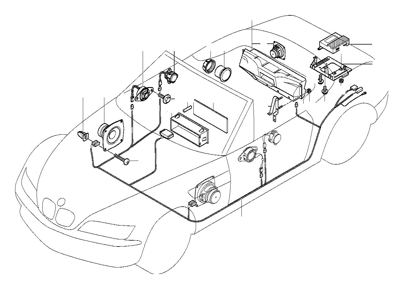 BMW Z3 Audio Wiring Harness HiFi. System, Single