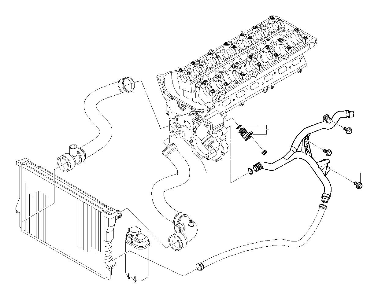 Bmw 525i Blind Plug Cooling System Hoses