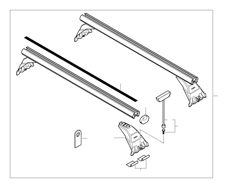 Bmw 525i Protection Foil 1 Satz Roof Rack