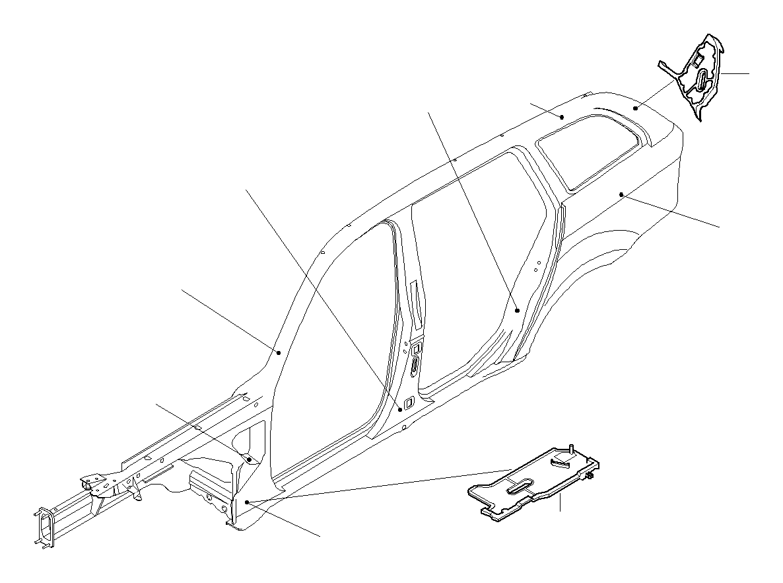 Bmw 325xi Shaped Part A Pillar Bottom Outer Side Body