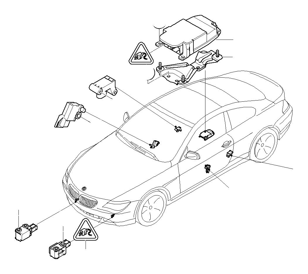 Bmw 525i Accelerating Sensor Electric Airbag System